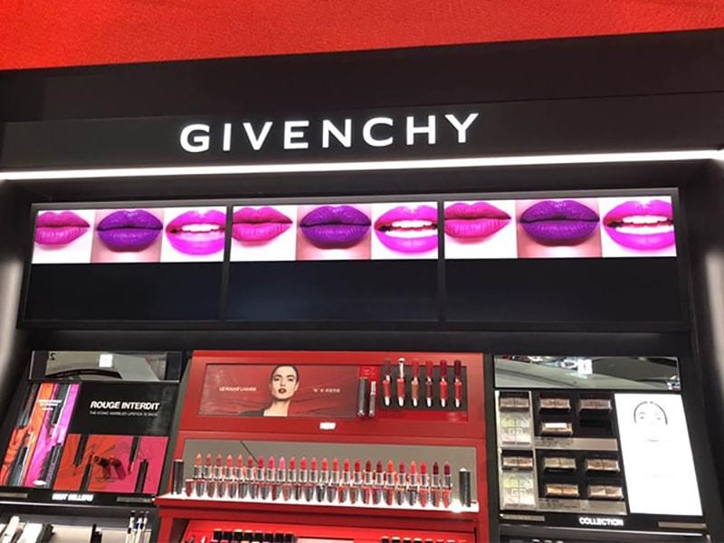 Digital signage retail solution - Digital shelf edge lcd for cosmetics shelf