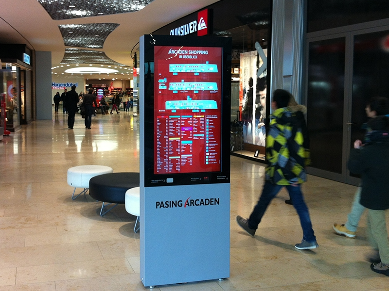 Digital signage shopping mall solution - Digital signage kiosk for way-finding