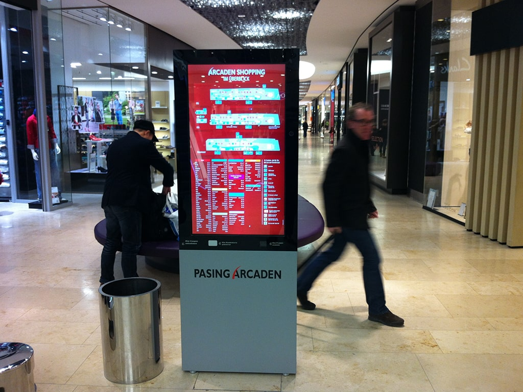 Digital signage shopping mall solution