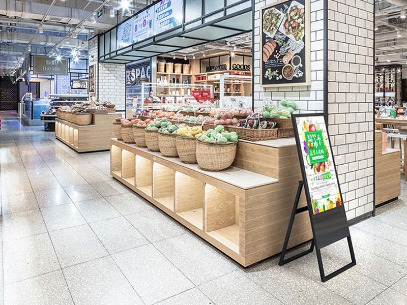 Digital signage supermarket solution - Portable digital signage for fruits and vegetables